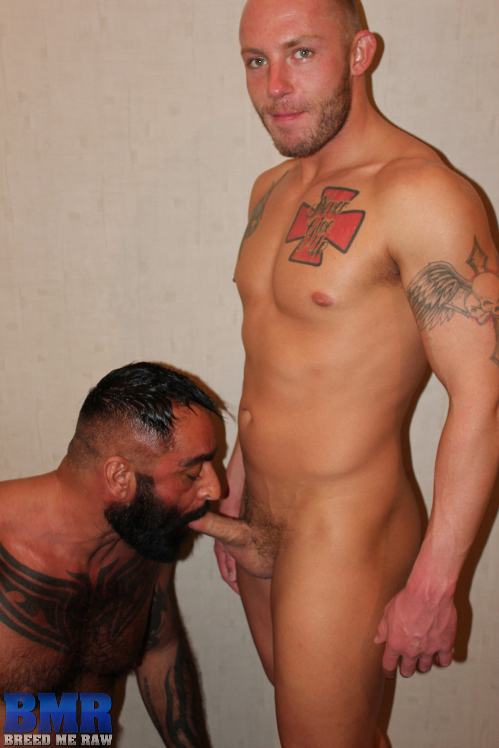 Breed-Me-Raw-Tom-Colt-and-Preston-Johnson-Hairy-Daddy-Barebacking-Amateur-Gay-Porn-04 Amateur Hairy Tatted Daddy Barebacking a Hot Young Smooth Bottom