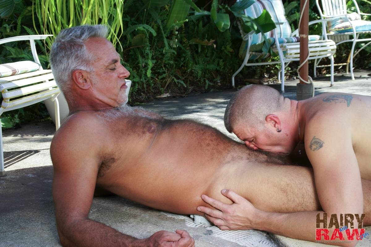 Hairy-and-Raw-Daddy-Jeff-Grove-and-Christian-Matthews-Bareback-BBBH-Amateur-Gay-Porn-09 Amateur Hairy Silver Daddy With Thick Cock Barebacks His Hung Pool Boy