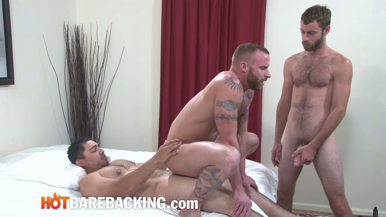 Hot Barebacking Marco Mateo and Derek Parker and Seth SX and Miguel Temon Fourway Bareback Amateur Gay Porn 11 Four Amateur Cocks and Bareback Double Penetration Group Sex