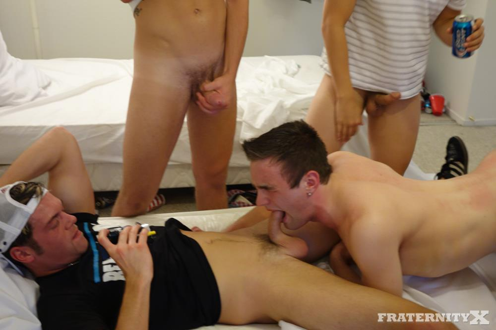 Fraternity-X-Andrew-Frat-Boy-Bareback-Gang-bang-Amateur-Gay-Porn-19 Five Amateur Straight Frat Guys Bareback Their Sissy Frat Brother