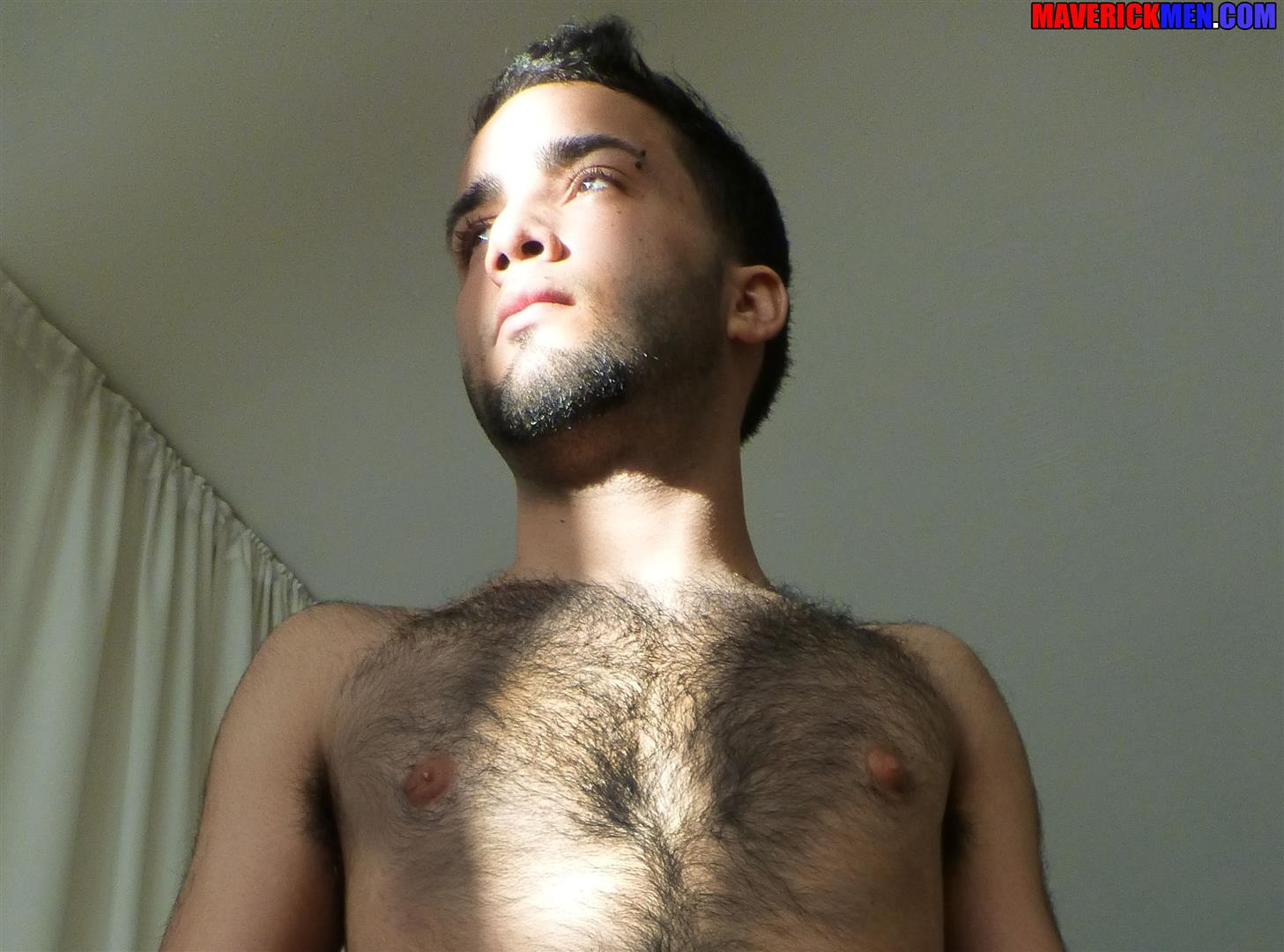 Maverick-Men-Little-Wolf-Hairy-Guy-With-Big-Uncut-Cock-Getting-Barebacked-By-Two-Daddies-Gay-Porn-10 Hairy Ass Young Guy Getting Barebacked By The Maverick Men