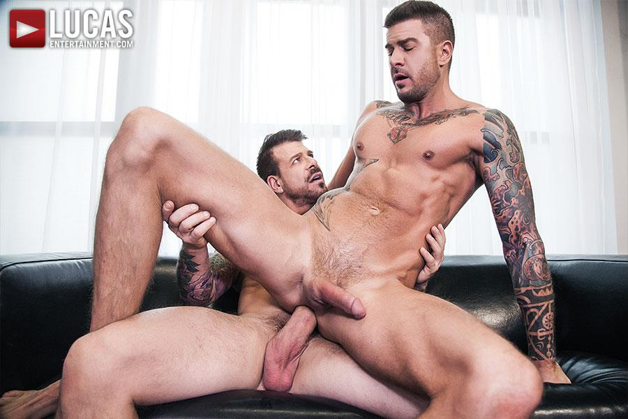 Lucas Entertainment Rocco Steele and Dolf Dietrich Big Cock Barback Muscle Hunks Amateur Gay Porn 07 Rocco Steele Breeding Dolf Dietrich With His Massive Cock