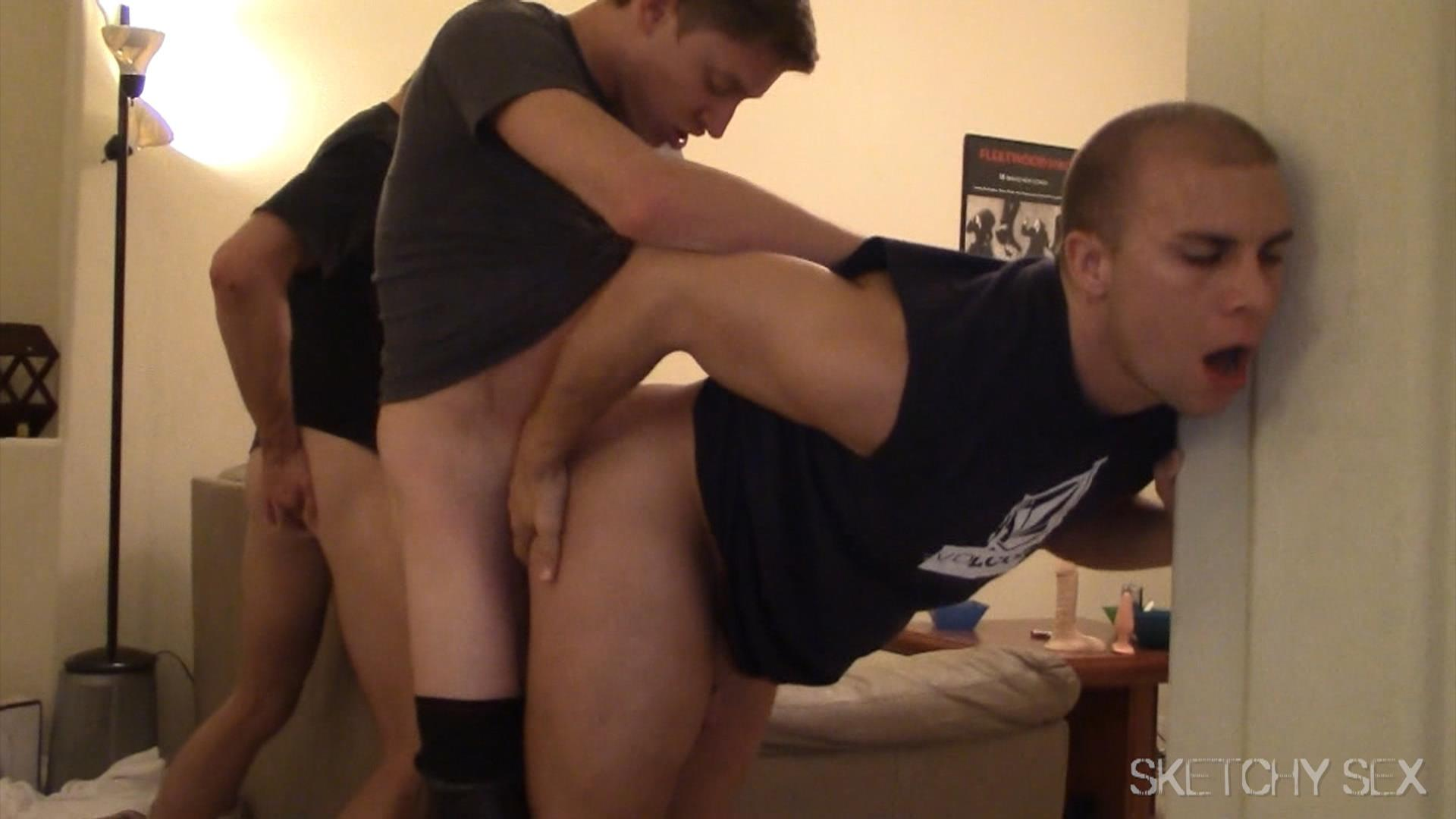 Sketchy Sex Anonymous Bareback Sex Party Big Dick Amateur Gay Porn 14 Getting Tag Teamed At A Bareback Anonymous Sex Encounter