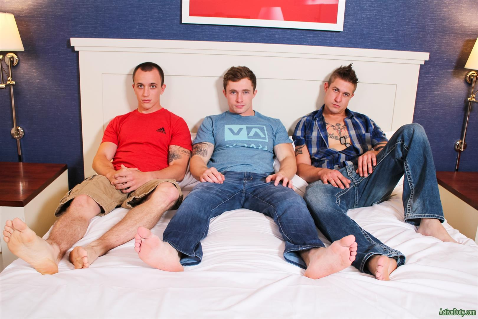 Active Duty Threeway Army Guys Bareback Sex Video Amateur Gay Porn 05 Big Dick Muscular Army Guys In A Bareback Threeway