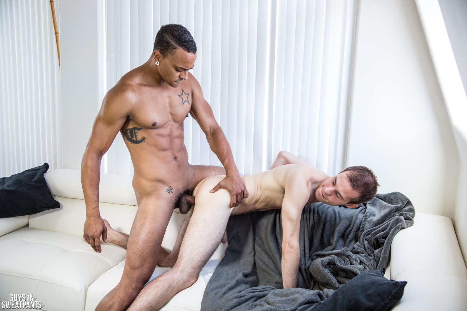 Guys In Sweat Pants Cameron Jakob and Dillon Hays Interracial Bareback Breeding Amateur Gay Porn 07 Versatile Hung Black Guy Fucks A White Boy With A Huge Uncut Cock