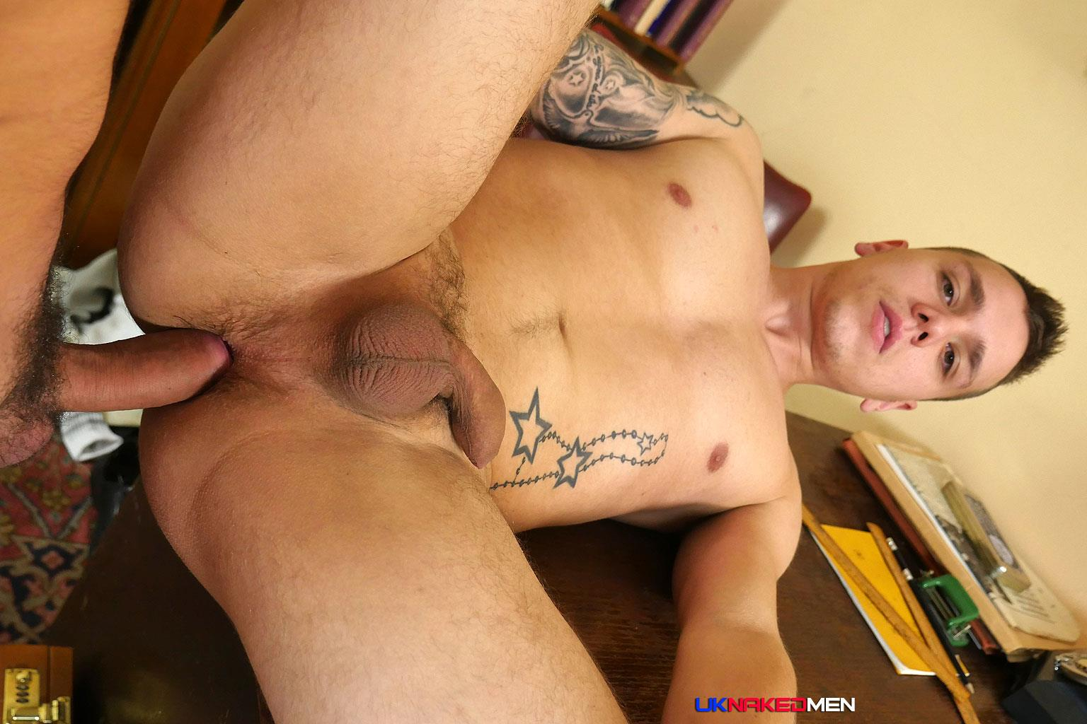 UK-Naked-Men-Rado-Zusila-and-Mickey-Rush-Uncut-Cock-Bareback-Amateur-Gay-Porn-15 Younger British Guy Takes An Uncut Cock Up The Ass Bareback For The First Time
