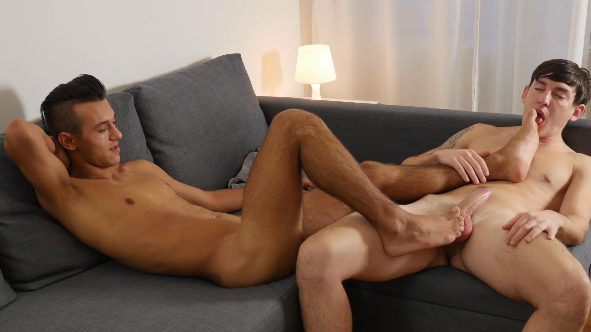 gay bareback foot job