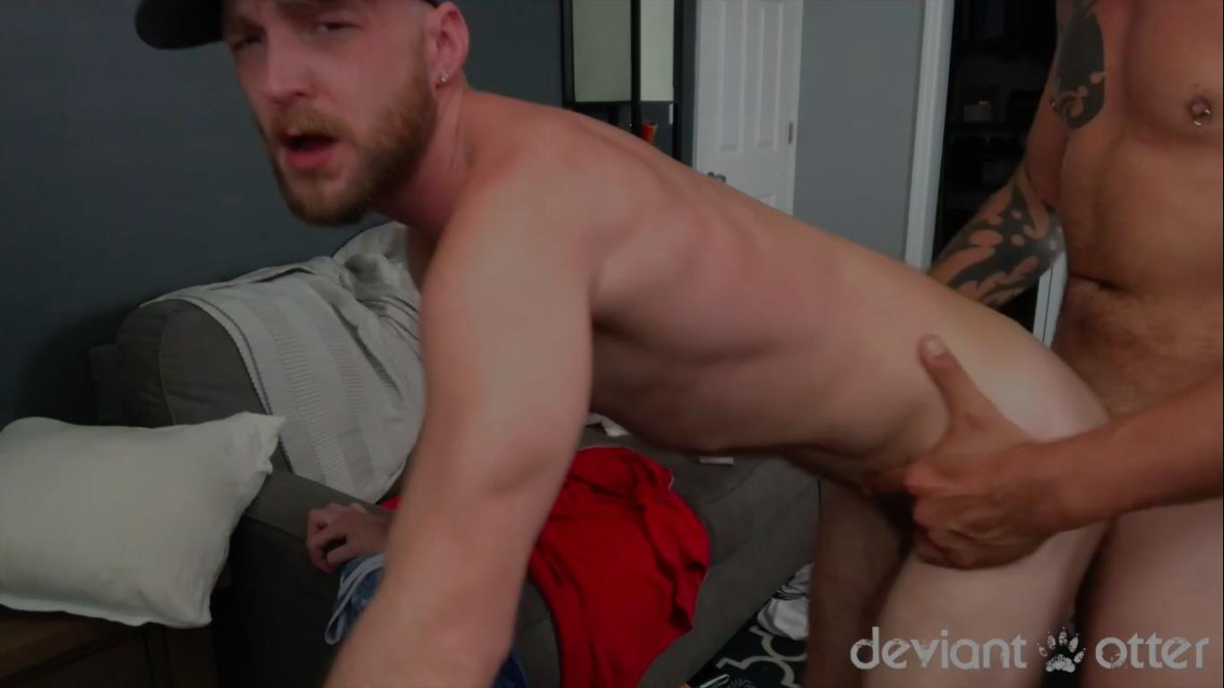 Deviant-Otter-and-Jace-Chambers-Amateur-Gay-Bareback-Sex-Video-9 Deviant Otter Gets His Hairy Hole Bred By Jace Chambers